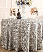 Restaurant Tischdecke Runder Tisch, Tischdecke, Tuch, Restaurant, Hotel, Esstisch, Couchtisch, Einfarbig, Blumen, Bankett, Tischdecke, langlebig Tischdecke decke ( größe : 300cm )