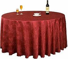 Restaurant Tischdecke Runder Tisch, Tischdecke, Tuch, Restaurant, Hotel, Esstisch, Couchtisch, Einfarbig, Blumen, Bankett, Tischdecke, langlebig Tischdecke decke ( Farbe : #2 , größe : 180cm )