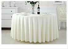 Restaurant Tischdecke Thick Solid Hotel Tischdecke Restaurant Restaurant Runder Tisch Tuch Konferenz Tischdecke Stoff Aktivitäten Tischtuch Office Tischtuch Tischdecke decke ( Farbe : D , größe : 6# )