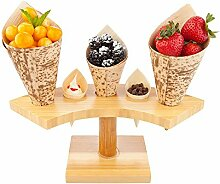 Restaurantware RWB0150 Cone Stand slots, Bamboo,