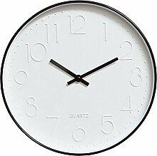 Restbuy Modern Wanduhr Lautlos Küchenuhr Quarz Analog Uhr 30cm Durchmesser