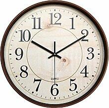 Restbuy Retro Wanduhr Küchenuhr lautlos Quarz Analog Uhr Ø 35 cm