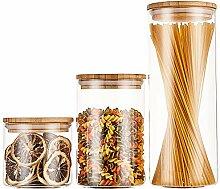 RESYOTE Vorratsdosen aus Glas für Lebensmittel, 3