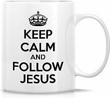 Retreez Funny Becher–Keep Calm and Follow