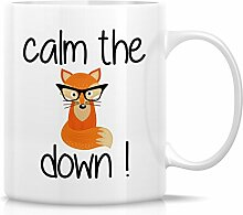 Retreez Funny Becher–Ruhe die Fox Down.
