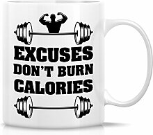 Retreez Funny Tasse–Ausreden nicht verbrannt