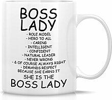 Retreez Funny Tasse–Boss Lady Rolle Modell