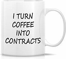 Retreez Funny Tasse–I Turn Kaffee in