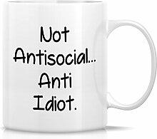 Retreez Funny Tasse–nicht, asoziales Anti