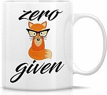 Retreez Funny Tasse–Zero Fox Angesichts