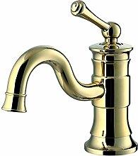 RetRetro Waschbecken Waschtischarmatur Armatur Wasserhahn Mischbatterie Einhebelmischer Gold Sanlingo