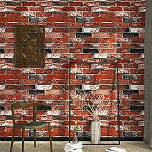 Retro 3D Backstein Tapete Restaurant Wohnzimmer