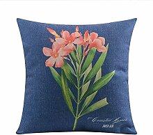 Retro American Country Stil Kissen Blume Kissen Dicke Baumwolle Sofa Throw Pillow-A 60x60cm(24x24inch)VersionA