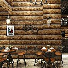 Retro Antike Holz Tapete 3D Stereo Restaurant
