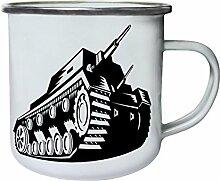Retro Armeebehälterweinlesegeschenk Retro, Zinn, Emaille 10oz/280ml Becher Tasse f779e