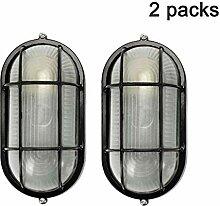Retro Außenlampe Aluminium Schiffsleuchten Gitter