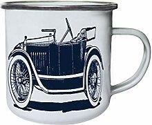 Retro Automobile Retro, Zinn, Emaille 10oz/280ml