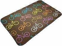 Retro Bike rutschfester Teppich traditioneller