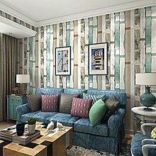 retro - blauen kalk holz tapete schlafzimmer