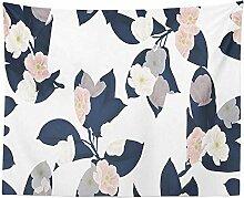 Retro-Blumen Wandteppich, Wohnheim Tapisserie