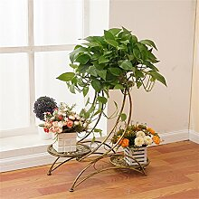 Retro Blumenregale Eisen Metall Blumen Regal für