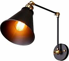 Retro Bronze Wandleuchte Design Vintage Lampe