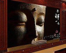 Retro Buddha-Statue-350cmX250cm-Fototapete 3D