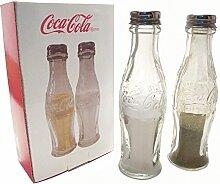 Retro Coca Cola Flaschen Salz Pfefferstreuer aus