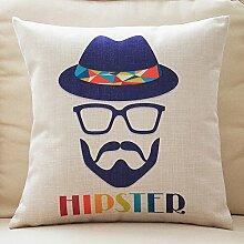 Retro Cotton And Linen Pillow,Sofa Cushions Pillow,Sofa Pillow-O 55x55cm(22x22inch)VersionB