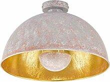 Retro Deckenleuchte mit Lampenschirm aus Metall Ø