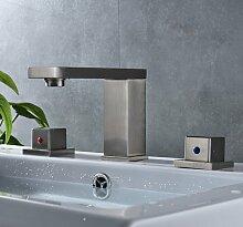 Retro Deluxe Fauceting Edelstahl gebürstet Nickel