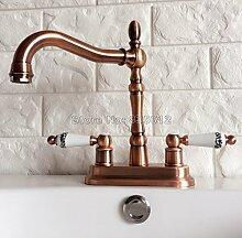 Retro Deluxe Fauceting Rot Kupfer 360 schwenkbarer