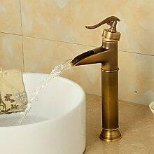 Retro Deluxe Fauceting Vintage Antik Bronze Badezimmer Armaturen Küchenarmaturen Torneiras Para De Banheiro Robinet Salle Bain Waschbecken Waschbecken Wasserhahn, Gelb