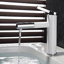 Retro Deluxe Fauceting Weiß Chrom Waschbecken