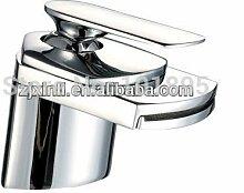 Retro Deluxe Fauceting X 8311 B1 - Luxus Deck montiert Messing Material Wasser fallen grosse Öffnung Waschbecken Armatur, Chrom, Hellgrau