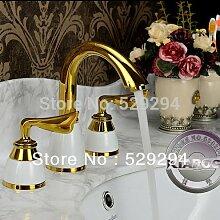 Retro Deluxe FaucetingDule Griff Golden Badezimmer