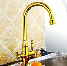 Retro Deluxe faucetinging Gold Küchenarmatur