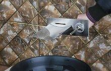 Retro Deluxe FaucetingShivers 97142 Nickel gebürstet Messing Wasserhahn Badezimmer Badewanne Wasserfall Led Mischbatterie an der Wand montiert, Nickel, Dunkelgrau