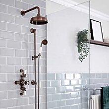 Retro Duschsystem mit Aufputz-Thermostat,