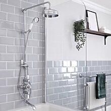 Retro Duschsystem mit Wanneneinlauf - Jade V -