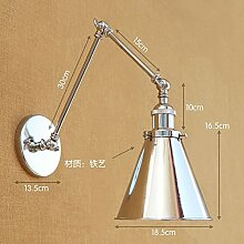 Retro Eisen Doppel lange Arm Wandlampe, Armlänge