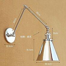 Retro Eisen Doppel langen Arm Wandlampe, Armlänge