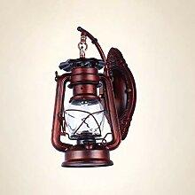 Retro Eisen Wandlampe Laterne Ganglicht Bar Licht