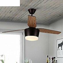 Retro-Esszimmer Lampen/ Fan Kronleuchter/American Country Wohnzimmer Fan Lights/ Blätter der Europäischen Sperrholz Deckenbeleuchtung Ventilator-A