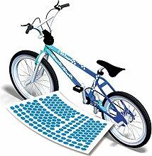Retro Fahrrad Aufkleber Cubes Eis Sticker für das Fahrrad in vielen Farben|S4B0115