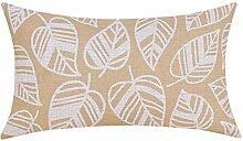 Retro-geometrische Baumwolle Sofa Bett Kissen/Kissen/ Bettruhe/Büropolster/Lendenkissen-I 30x50cm(12x20inch)VersionB