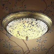 Retro Glas-Deckenleuchte Warme Haupt Schlafzimmer Lichter Runde Balkon Korridor Aisle-Lampen LED