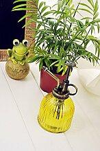 Retro Glas Hand Druck Gießkanne Spray Flasche Garten Pflanze Bewässerung Werkzeug
