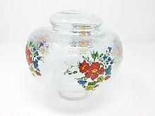 Retro Glas Lampenschirm Blumen Dekor Ersatzglas