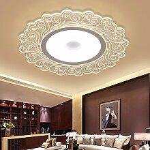 retro günstige muster runde deckenleuchte living room restaurant kreative led lampe studieren schlafzimmer zu hause dekoration lampeelectrodeless dimmen Deckenbeleuchtung